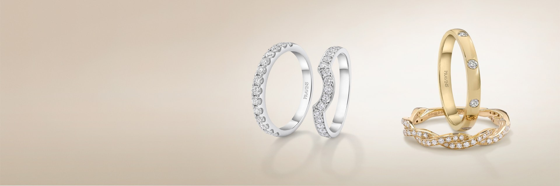 WITH THIS RING… PRAVINS WEDDING RINGS HAVE BEEN SYMBOLS OF LOVE AND DEVOTION FOR FIVE DECADES.