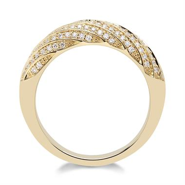Aira 18ct Yellow Gold Diamond Dress Ring 0.34ct thumbnail
