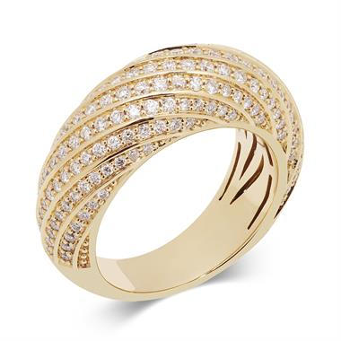 Aira 18ct Yellow Gold Diamond Dress Ring 1.05ct thumbnail