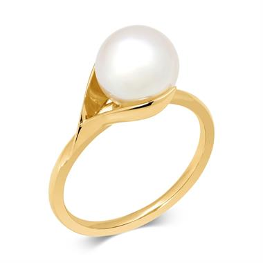 Snowdrop 18ct Yellow Gold Pearl Ring thumbnail