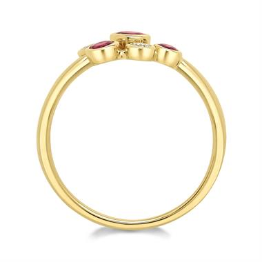 Alchemy 18ct Yellow Gold Ruby and Diamond Dress Ring (Small) thumbnail