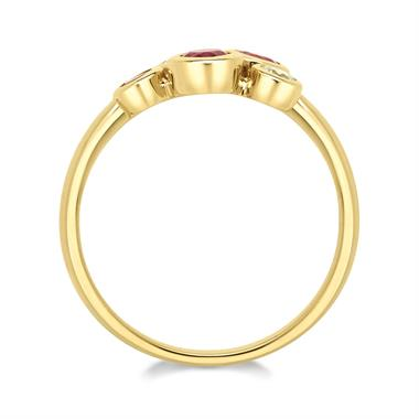 Alchemy 18ct Yellow Gold Ruby and Diamond Dress Ring (Large) thumbnail