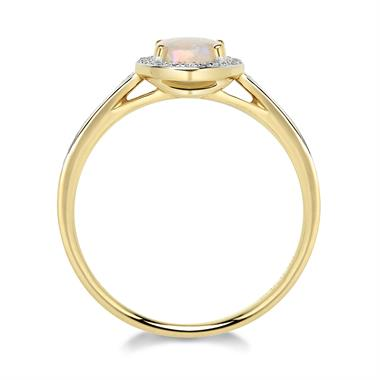 18ct Yellow Gold Opal and Diamond Ring thumbnail