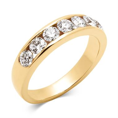 18ct Yellow Gold Diamond Half Eternity Ring 1.00ct thumbnail