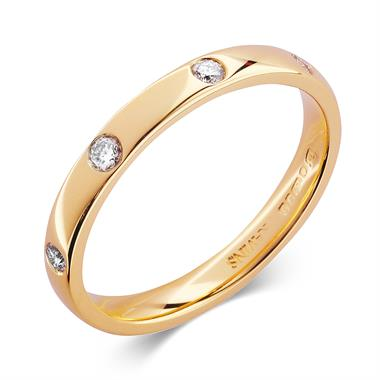 18ct Yellow Gold Eight Drill Set Diamond Ring thumbnail