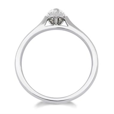 Platinum Diamond Pear Shape Solitaire Ring 0.50ct thumbnail