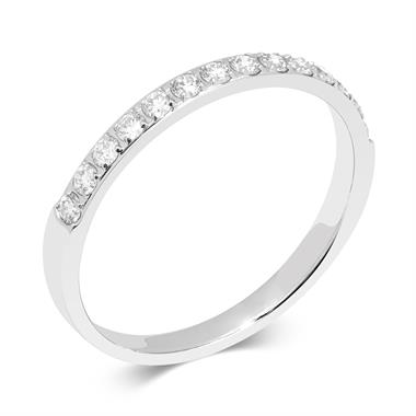 Platinum Diamond Half Eternity Ring thumbnail
