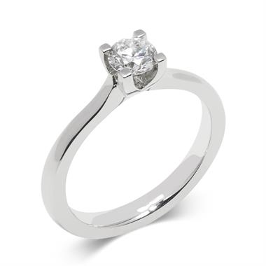 Platinum Diamond Solitaire Engagement Ring 0.40ct thumbnail