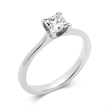 Platinum Modern Princess Cut 0.70ct Diamond Solitaire  Ring thumbnail