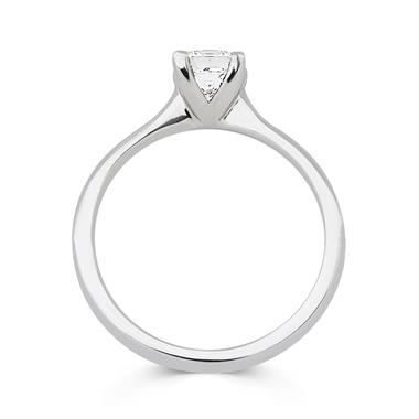 Platinum Princess Cut Diamond Solitaire Engagement Ring 0.70ct thumbnail