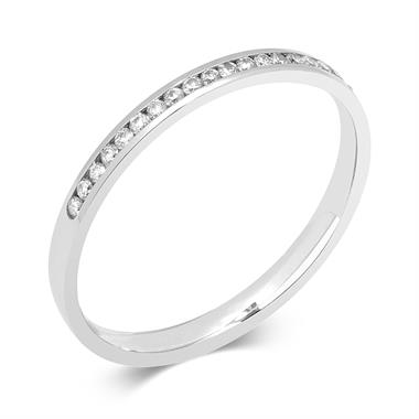 Platinum 0.10ct Diamond Channel Set Ring thumbnail