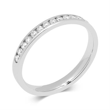 Platinum 0.25ct Diamond Channel Set Ring thumbnail