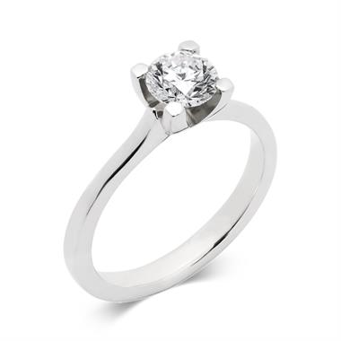 Platinum Modern Brilliant Cut 0.70ct Diamond Solitaire Ring thumbnail