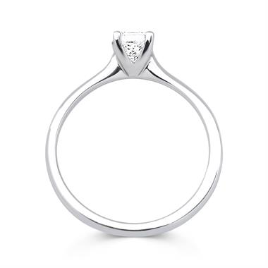 Platinum Modern Princess Cut 0.50ct Diamond Solitaire Ring thumbnail