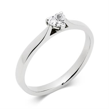 Platinum 0.25ct Diamond Heart Shape Solitaire Ring thumbnail