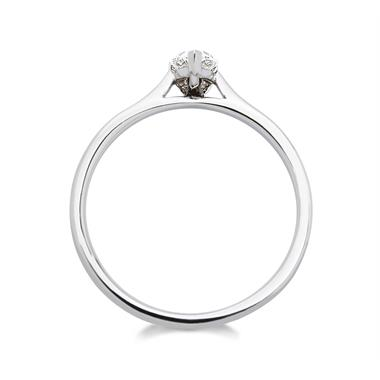 Platinum Pear Shape Diamond Solitaire Enagagement Ring 0.35ct thumbnail