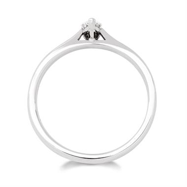 Platinum Pear Shape Diamond Solitaire Enagagement Ring 0.25ct thumbnail
