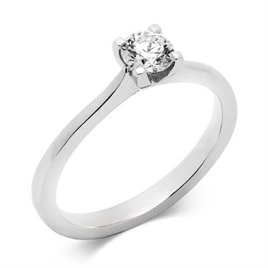 Platinum Modern Brilliant Cut 0.33ct Diamond Solitaire Ring thumbnail