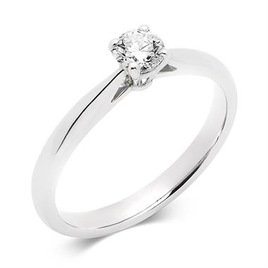 Platinum Tapered Shoulder 0.25ct Diamond Solitaire Ring thumbnail