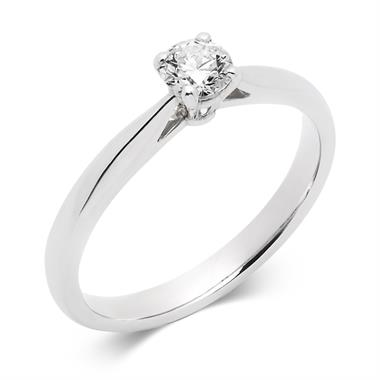 Platinum Tapered Shoulder 0.33ct Diamond Solitaire Ring thumbnail