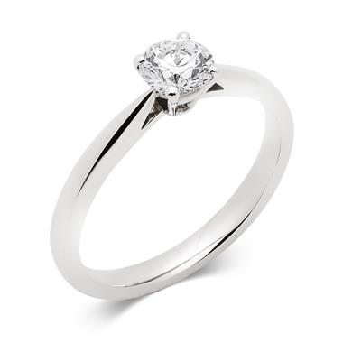 Platinum Tapered Shoulder 0.50ct Diamond Solitaire Ring thumbnail