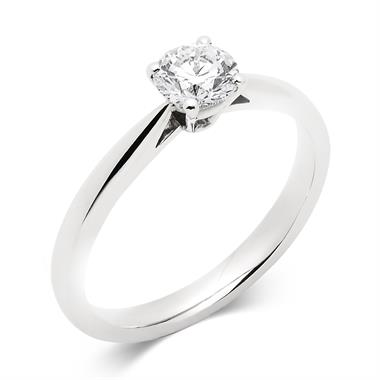 Platinum Tapered Shoulder 0.60ct Diamond Solitaire Ring thumbnail