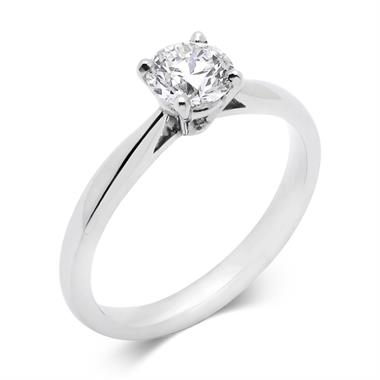 Platinum Classic Design Diamond Solitaire Engagement Ring 0.70ct thumbnail