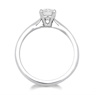 Platinum Tapered Shoulder 0.70ct Diamond Solitaire Ring thumbnail