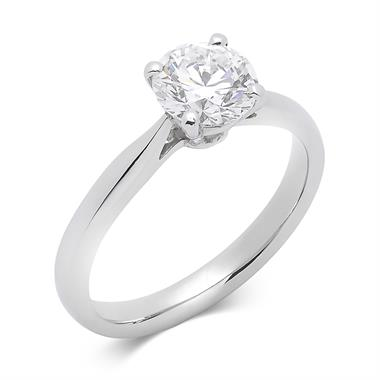 Platinum Classic Design Diamond Solitaire Engagement Ring 1.20ct thumbnail