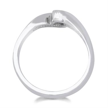 Platinum Rubover 0.25ct Diamond Twist Solitaire Ring thumbnail