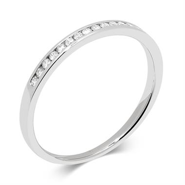 Platinum Diamond Half Eternity Ring 0.10ct thumbnail