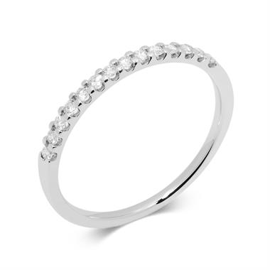 Platinum Diamond Half Eternity Ring 0.15ct thumbnail