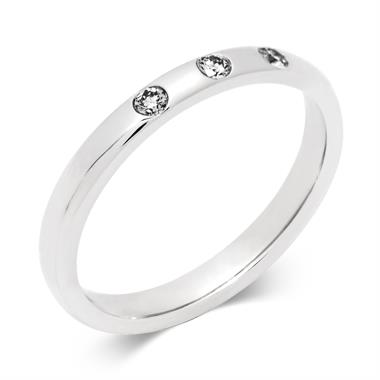 Platinum Diamond Set Wedding Ring thumbnail