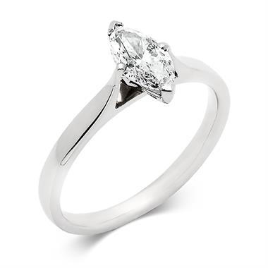 Platinum Marquise Cut Diamond Solitaire Engagement Ring 0.70ct thumbnail