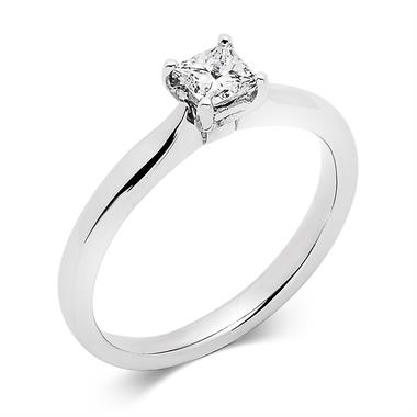 Platinum Classic Princess Cut 0.40ct Diamond Solitaire Ring thumbnail