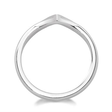 Platinum Wishbone Diamond Shaped Ring thumbnail