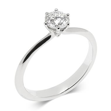 Platinum Six Claw 0.50ct Diamond Solitaire Ring thumbnail