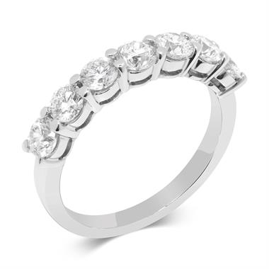 Platinum Seven Diamond Eternity Ring thumbnail