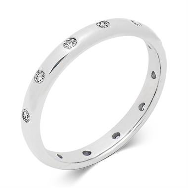 Platinum Rubover Modern Diamond Wedding Ring thumbnail
