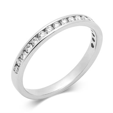 Platinum Classic Channel Set Diamond Ring thumbnail