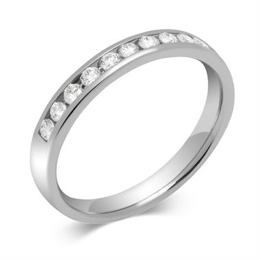 Platinum Round 0.25ct Diamond Fine Channel Ring thumbnail