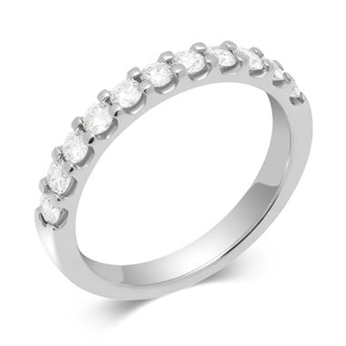 Platinum Round 0.50ct Diamond Claw Ring thumbnail