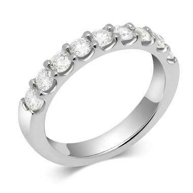 Platinum Diamond Half Eternity Ring 0.75ct thumbnail