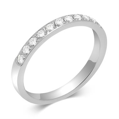 Platinum Round 0.25ct Diamond Grain Set Ring thumbnail