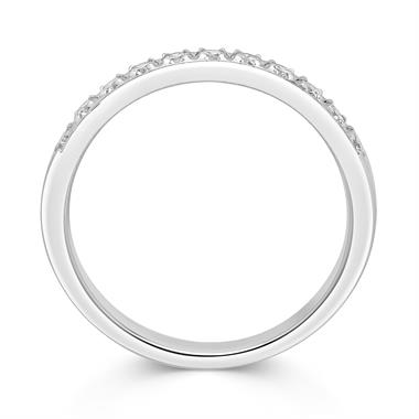 Platinum Round 0.33ct Diamond Grain Set Ring thumbnail
