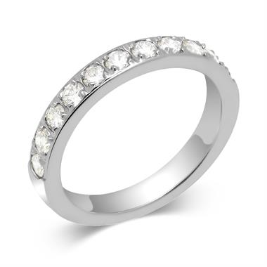 Platinum Round 0.50ct Diamond Grain Set Ring thumbnail