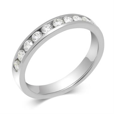 Platinum 0.50ct Diamond True Half Channel Ring thumbnail