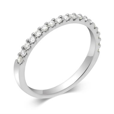 Platinum 0.25ct Diamond True Half Claw Ring thumbnail
