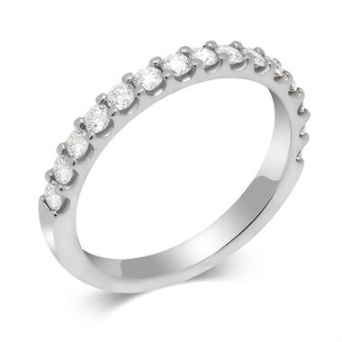Platinum 0.50ct Diamond True Half Claw Ring thumbnail