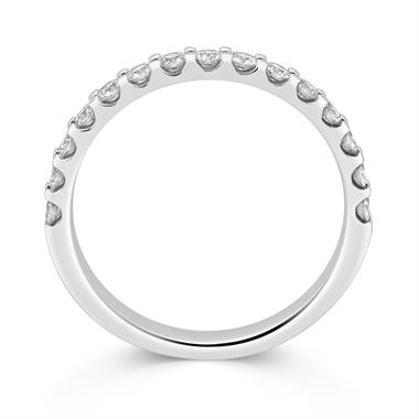 Platinum Diamond Half Eternity Ring 0.50ct thumbnail